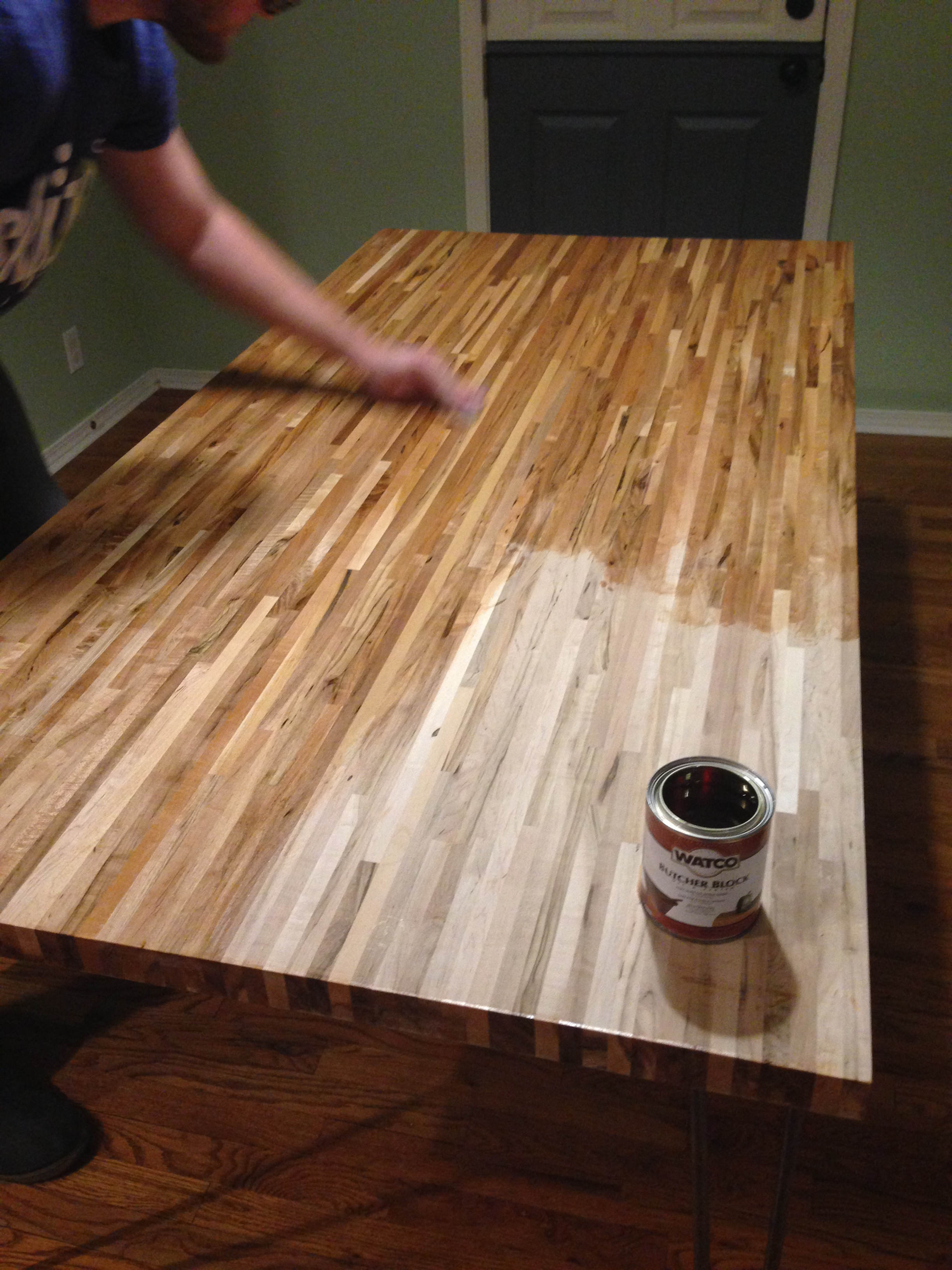How To Build A Hairpin Table Amp Apply Chalkboard Paint